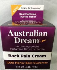 Australian Dream Back Pain Relief Cream 4 oz EXP:01/2020 NEW STRONGER FREE SHIP