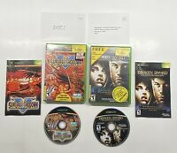 Xbox Samurai Shodown & Broken Sword The Sleeping Dragon COMPLETE Warranty Cards!