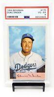 1954 Bowman HOF Brooklyn Dodgers DUKE SNIDER Vintage Baseball Card PSA 4 VG-EX
