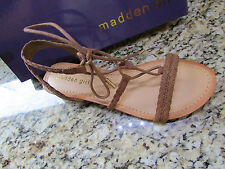 ad6ae7e119 Madden Girl Torren Strappy Lace up Wedge Sandals Womens 10 Ship