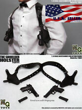 """MG Toys 1/6 Mens Black Shoulder Holster Set For 12"""" Hot Toys PHICEN Figure ❶USA❶"""