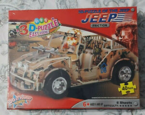 Diy 3D Puzzle. 3D Puzzle Of The Jeep. Friction Easy Assembly WD2506