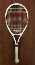 Wilson Hope Tennis Racket - Breast Cancer White & Pink - 110 sq. in - 4 1/8 Grip