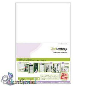 10 Blatt doppelseitige Klebe-Folie A5 Stanzhilfe transparent CraftEmotions 0005