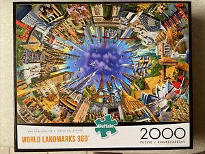 🟢 Buffalo Games World Landmarks 360 Jigsaw Puzzle - 2000 Pieces