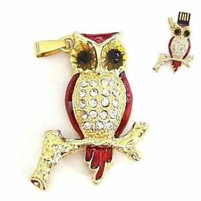 16 GB gioielli USB CHIAVETTA chiave di memoria flash drive GUFO OWL ORO-Colorate Rosso