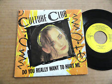 "DISQUE 45T DE CULTURE CLUB   "" DO YOU REALLY WANT TO HURT ME """