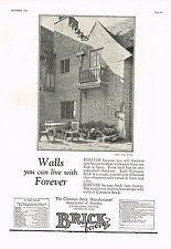 1920s BIG VINTAGE Brick Ass. Dwight J Baum House Architecture Photo Print AD