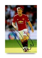 Luke Shaw Signed 6x4 Photo Manchester United Genuine Autograph Memorabilia + COA