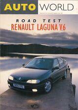 Renault Laguna 3.0 V6 Road Test 1994 UK Market Brochure Autoworld