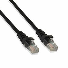 2FT Cat6 Black Ethernet Network Patch Cable RJ45 Lan Wire 2 Feet (5 Pack)
