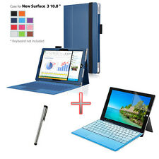 "H1 Blue Holder Case Cover + Film + Pen For Microsoft New Surface 3 10.8"" Tablet"