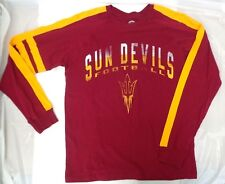 Arizona State Sun Devils Men's Large Long Sleeve Rugby Tee Shirt
