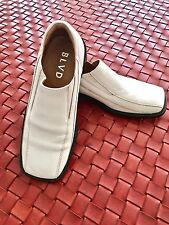 BLVD Man's White Leather Shoes,  New without Box Size 40