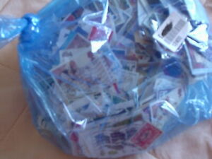 BAG OF USED  POSTAGE STAMPS  worldwide