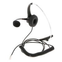 RJ9 Call Center Office Noise Cancelling Headset / Headphone Desk Telephone