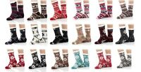 Winter Women Thick Cozy Sherpa Fleece Lined Thermal Fuzzy Non-Skid Slipper Socks