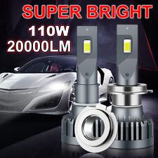 2Pcs CSP LED Headlight Blub Kit 110W 20000LM Hi-Lo Beam Lamp Super Bright White