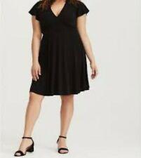 17f83d02e1e34 Torrid Black Jersey Knit Skater Dress 3x 22 24  58277