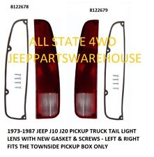 TAIL LIGHT LENS, PAIR FITS 1974-1988 JEEP J10 J20, LEFT & RIGHT W/GASKET & SCREW