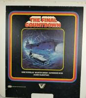Kirk Douglas Martin Sheen The Final Countdown 1981 Sci-Fi CED Movie Video Disc