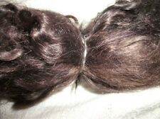Dyed Combed dark brown Angora Mohair Reborn dolls locks wig hair