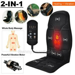 Car Seat Cover Heated Back Massager Vibration Soft Chair Wamer Mat Home Office