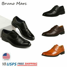 Bruno Marc Mens Leather Lace Up Fashion Brogue Casual Formal Wedding Oxfords US
