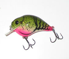 "2 1/2"" CUSTOM PAINTED SQUARE BILL CRANKBAIT BASS LURE 7/16 OZ CRAWDAD"