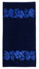 Navy with Royal Blue Flowers Over-Sized Beach Towel Superior 100% Cotton