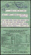 TELEGRAM RUSSIA BR.EMBASSY WW2 1944 CENSORSHIP MOSCOW 6 JULY LUTHUANIA THOROGOOD