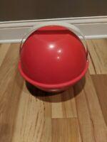 Vintage Ingrid Picnic Plate Bowl Set w Case Mid Century Party Multi Color Camp