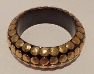 EX DISPLAY MODEL WOMEN'S BANGLE IN GOLD & BLACK