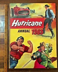 VINTAGE 1965 HURRICANE WILD WEST WORLD WAR COMIC STORY BOOK ANNUAL HB UK EXC!!!