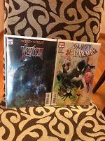 Venom #15 & Symbiote Spider-Man #3 Hidden Retailer Blood Variant lot of 2 HTF!!!