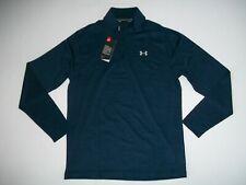 Under Armour Ua Playoff Blue Stripe 1/4 Zip L/S Golf Shirt Mens Size Medium New