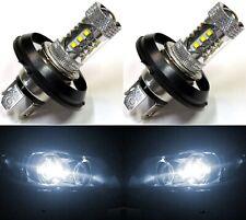 LED 80W H4 P45T 12V White 5000K Two Bulbs Head Light Replace Motorcycle Bike