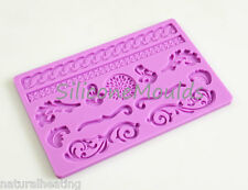 BAROQUE Ornate Silicone Cake Decoration Sugarpaste Fondant Bakeware Mould Mold