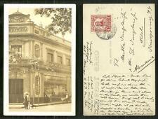 Guadalajara rppc Ferreteria La Palma Mexico stamp 1912