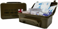 NEW Elite First Aid Military Style 8 Person 1st Aid Kit In Waterproof Box Case
