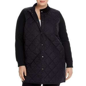 Eileen Fisher Womens Black Winter Quilted Jacket Outerwear Plus 1X BHFO 8442