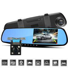 "4.3"" HD 1080P Dual Lens Rear View Mirror Car DVR Dash Cam Recorder Camera Nice."
