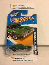 '68 Mercury Cougar #119 * Green * 2012 Hot Wheels * J9