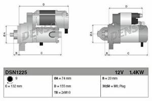 DENSO STARTER MOTOR FOR A TOYOTA HILUX PICKUP 2.4 107KW