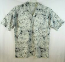 Lilly Dache Vintage Mod Geometric Mens Short Sleeve Shirt Large Disco Gray
