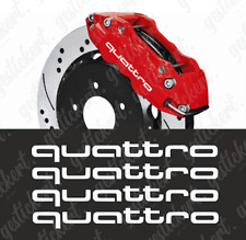 4x quattro Bremssattel Aufkleber Sticker Decal Audi A3 A4 A5 S3 RS3 RS4 Tuning