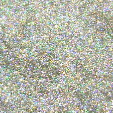 "2 lb / 907g Silver Jewels Holographic Metal Flake .008"" Paint Additive - LF2932"