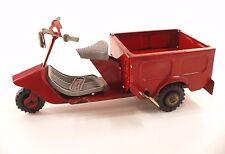 FAUVEL France SCOOTER Triporteur en tôle 18 cm Tin Toy RARE
