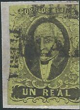 J) 1861 Mexico, Hidalgo, Un Real, Pre Print And Paper Fold, Puebla District, Mn