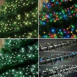 LED Cluster Lights String Fairy Indoor Outdoor Wedding Tree House Window Festive